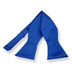 zelfstrikker blauw effen