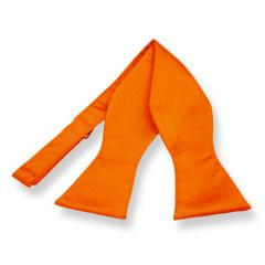 zelfstrikker oranje effen