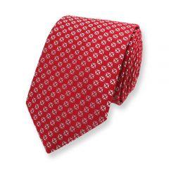 stropdas zilver rood geblokt