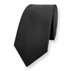stropdas zwart effen lio